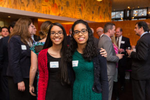 Kauribel (left) and Maria Javier both used CSF scholarships in elementary school. They are now freshmen at Princeton and Columbia, respectively.